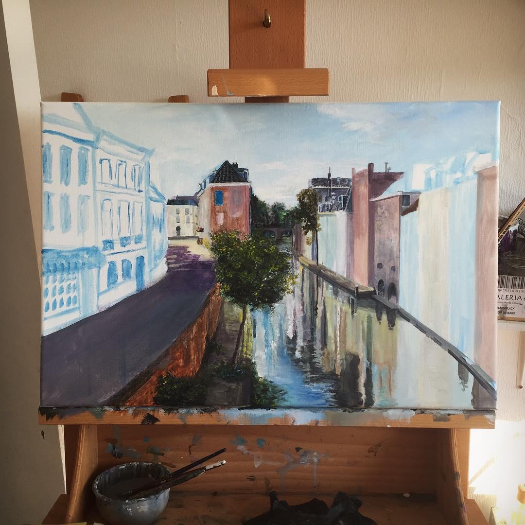 New painting in progress utrecht instaart summer paint