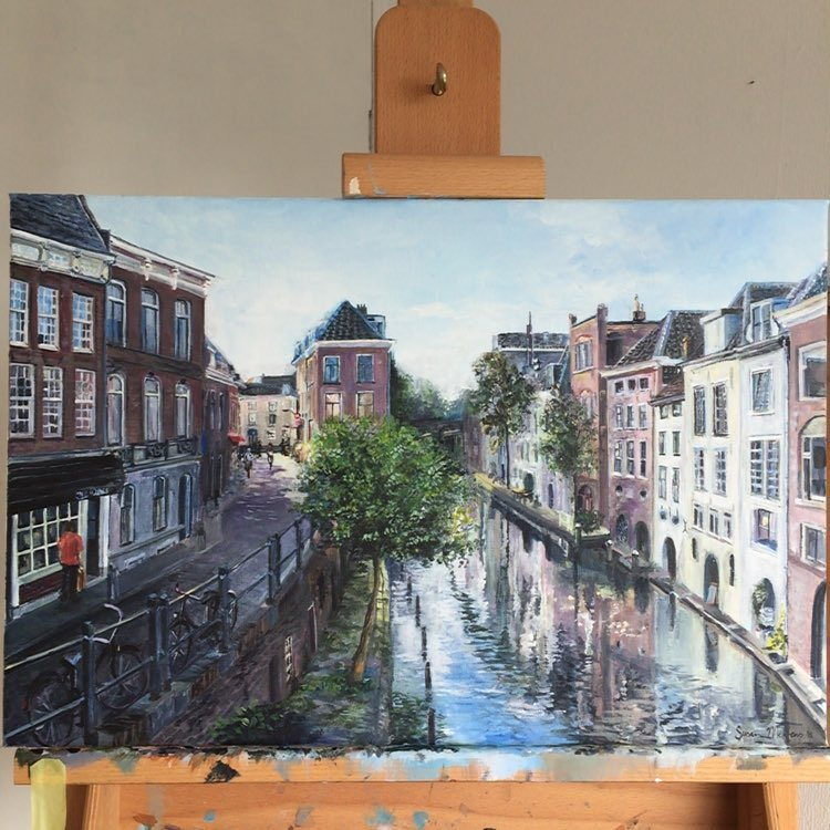 New painting finished utrecht art kunst instadaily acryl instaart Andhellip