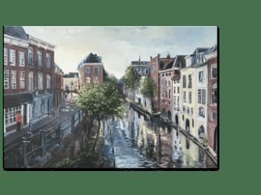 Schilderij <br> Lichte Gaard Utrecht | Verkocht