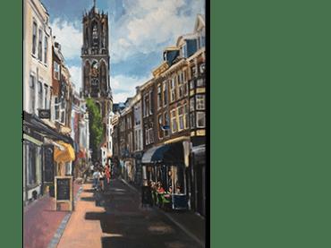 Schilderij <br> Zadelstraat Utrecht | verkocht