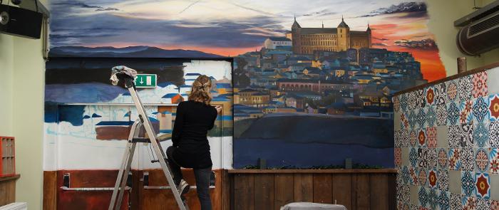 Muurschildering Cerveceria Boulevard