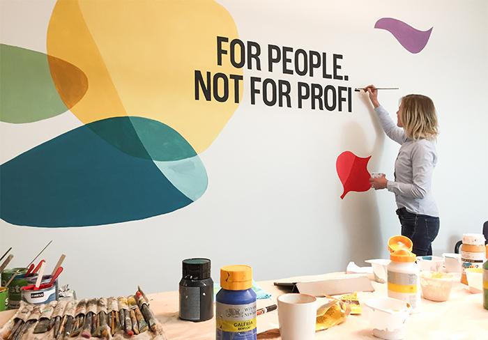 Muurschildering Fairtrade Progress