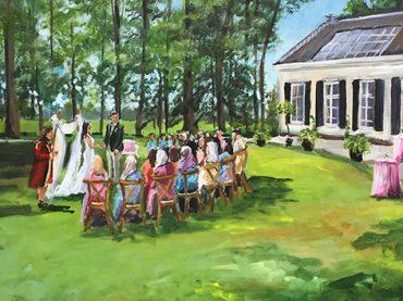 Live Paint bruiloft de Bilt