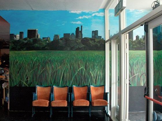 Muurschildering Central Park Skyline