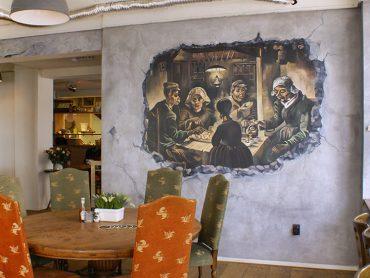 Muurschildering Restaurant Kartoffel
