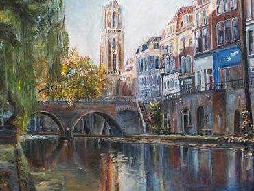 Schilderij Hamburgerbrug Utrecht