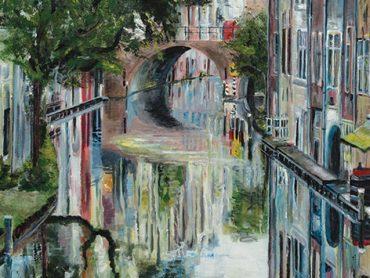 Schilderij Utrecht Maartensbrug
