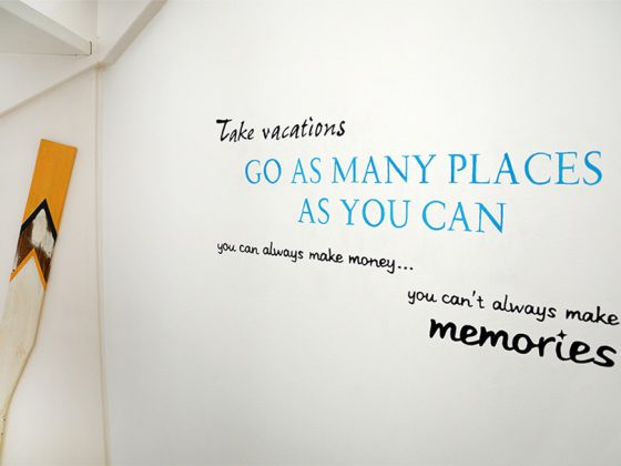 Muurschildering Inspirerende Tekst