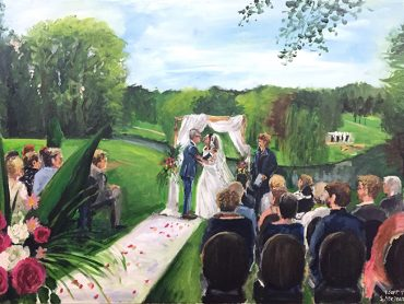 Live Paint Bruiloft Rozendaal
