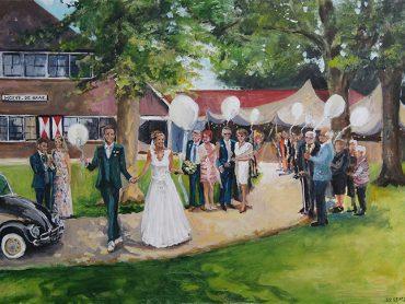 Live Paint Bruiloft Ambt Delden