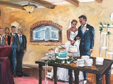 Live Paint Bruiloft Schipluiden