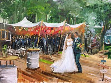 Live Paint Bruiloft Hilversum