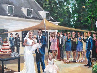 Live Paint Bruiloft Nijkerk