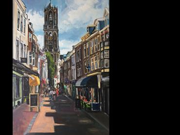 Schilderij Zadelstraat Utrecht