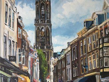 Schilderij Utrecht Zadelstraat
