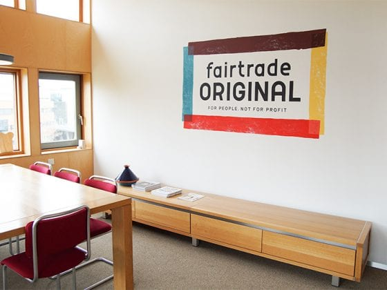 Fairtrade Original Logo Muurschildering