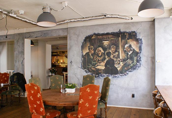 Muurschildering restaurant Kartoffel #1