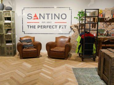Vespo • Santino Logo muurschildering
