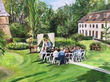 Live Paint Bruiloft 't Goy