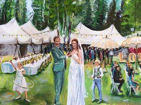 Live Paint Bruiloft Lage Vuursche
