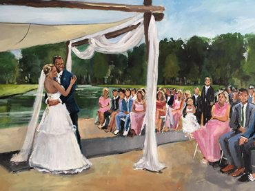 Live Paint Bruiloft Bergschenhoek