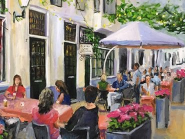 Live Paint Bistro Chez Jacqueline