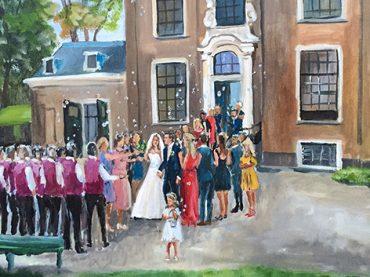 Live Paint Bruiloft Amsterdam
