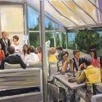 Live Paint diner Noordwijk
