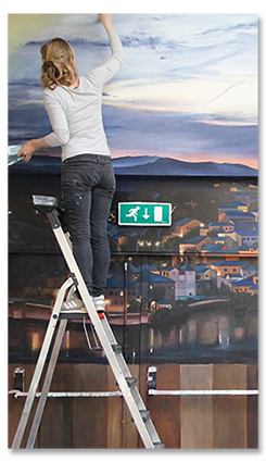 muurschildering restaurant laten maken