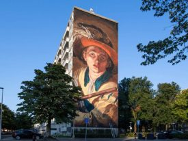 Muurschildering De Fluitspeler