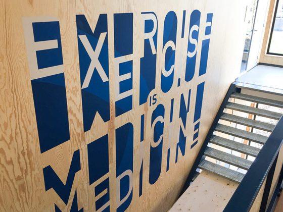 Muurschildering Sportschool