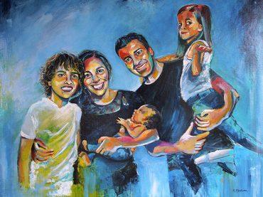 Familieportret Pop art
