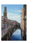 Schilderij Vismarkt Utrecht