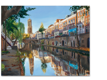 Schilderij Oudegracht Domtoren Utrecht