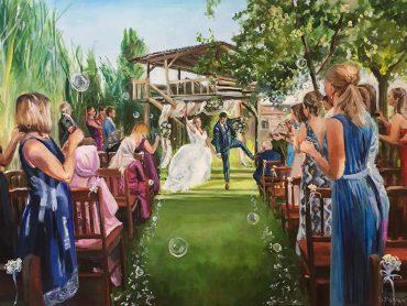 After Paint huwelijks ceremonie
