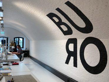 Muurschildering Logo BURO
