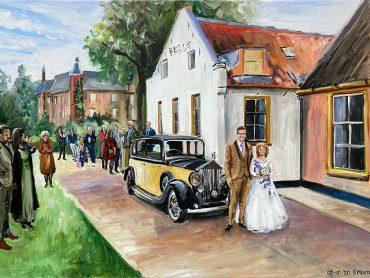 Live Paint bruiloft Oud-Zuilen