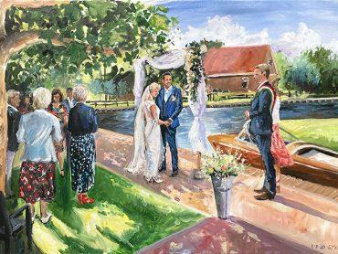 Live Paint bruiloft Kalenberg