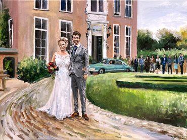 Live Paint bruiloft Drenthe