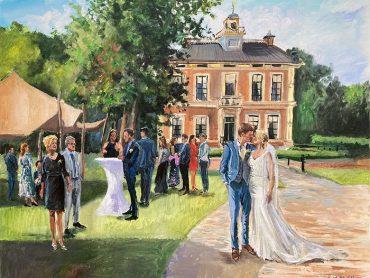 Live Paint bruiloft Laag Zuthem