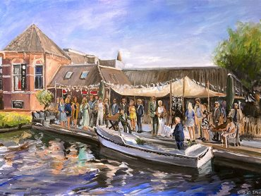 Live Paint bruiloft Schagerbrug