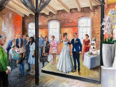 Live Paint bruiloft Hoek van Holland