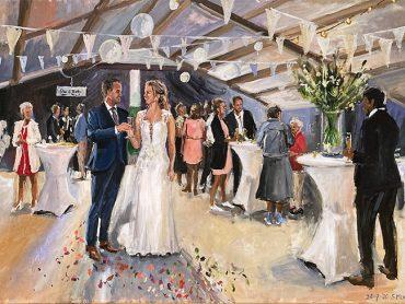 Live Paint bruiloft Friesland
