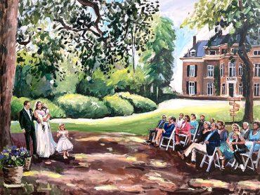 Live Paint bruiloft de Steeg