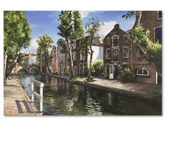 Schilderij Twijnstraat a/d Werf
