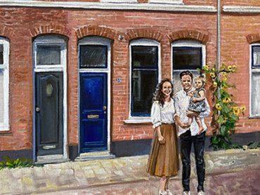 Schilderij van je huis
