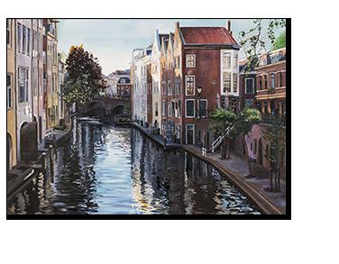 Schilderij Gaardbrug Utrecht