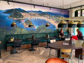 Muurschildering Gran Cafe Brava